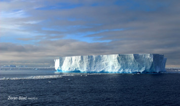 Floating Iceberg In Matha Strait, Antarctica