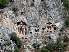 Lycian Tombs (Circa 400 BC) Near Dalyan, Turkey