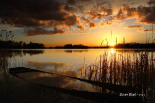 At The End, Sunset Over Soderica Lake Near Koprivnica, Podravina, Croatia