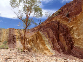 Multicoloured Rocks In The Ochre Pits, Northern Territory, Australia