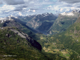 View To The End Of Geirangerfjord, Norway