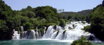 Skradinski Buk Waterfall On The River Krka, Croatia