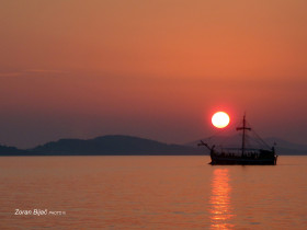 End Of The Day, Adriatic Coast Near Sibenik, Dalmatia, Croatia