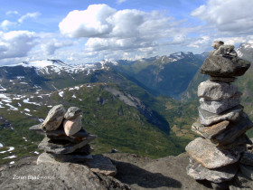 View From Dalsnibba Mountain To The Geiranger Valley, Norway