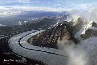 River Of Ice Slides Down Mount McKinley, Alaska, USA