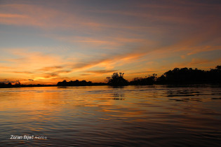 Sunset At The Amazon River, Amazonas, Brazil