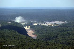 Aerial Panoramic View To Iguazu Falls, Argentina/Parana-Brazil