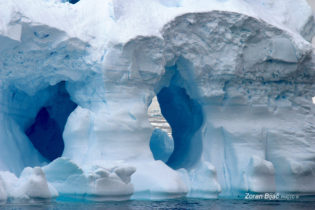 Deep Eye, Fantastic View Through The Floating Iceberg, Antarctica